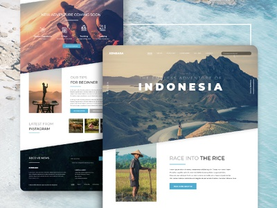 BlogVenture - Personal Travel & Lifestyle Web Blog Design web blog website ux ui design