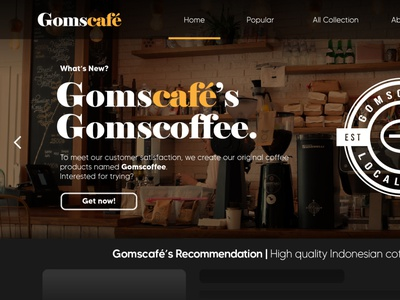 Web Cafe - Hero Header By Rofii branding ui header web design