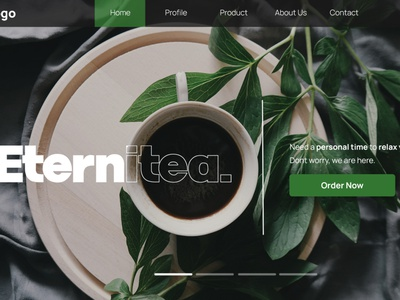 Tea Shop - Hero Header By Rofii web ui branding header design