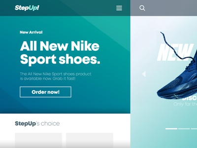 Shoes Store - Hero Header By Rofii header web ui design