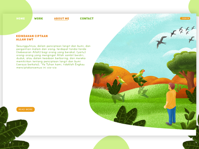 Web Design Panorama header ux ui web animation vector crayon illustration design