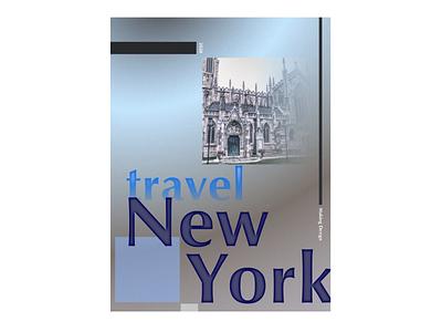 travel New York inspiration illustration design 365 days poster affinitydesigner daily challange 365 daily challenge poster design