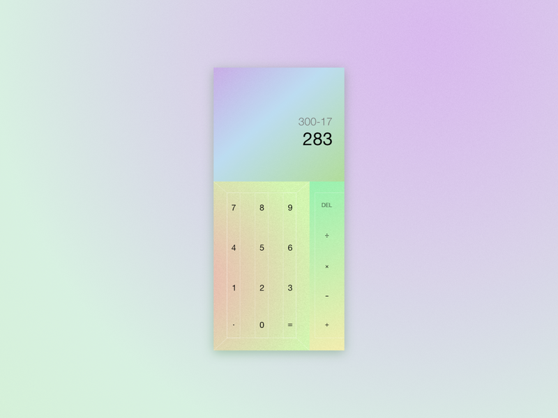 Daily UI #4 color palette stylish design caculator dailyuichallenge dailyui