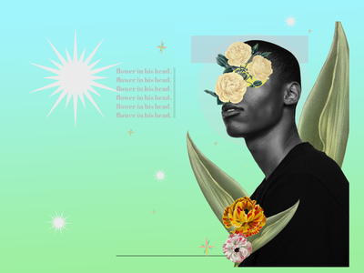 Flower in his head creative design digital art digitalcollage poster design