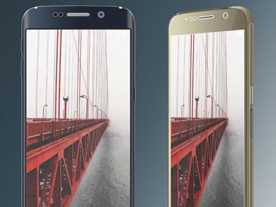 Mock-up & Concept Tool: S6 & S6 Edge mockup template vector psd photoshop samsung galaxy s6 edge