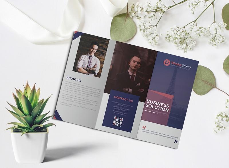 Trifold Brochure Design design minimalist logo brochure design logo design graphic  design branding template corporate flyer flyers trifold brochure brochure typography trifold brochure design