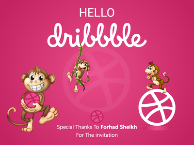 Hello Dribble- My first shot. logo flat illustration branding typography tshirt design graphic design graphic  design dribble invite dribbleinvite dribble
