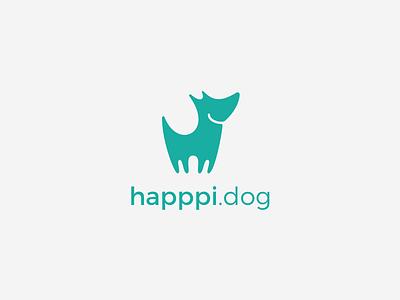 happpi.dog logo logo happpi.dog happpi startup dog happy
