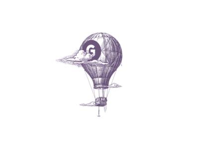 Globarama🎈 air balloon vintage logo