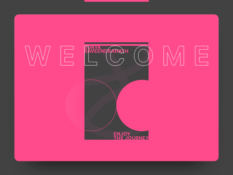 Welcome to Dribbble enjoy the journey welcome announce winner draft dribbble