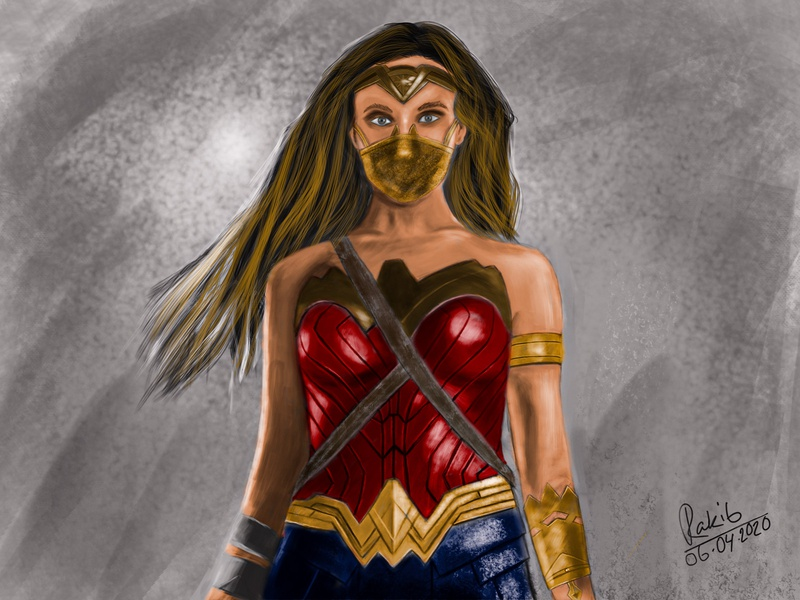 Wonder Woman Wearing mask