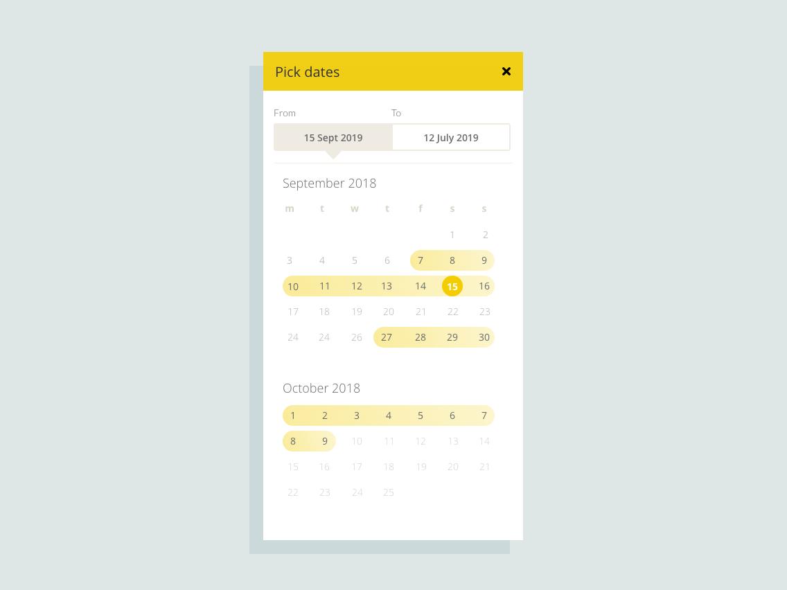 Date Picker date picker app mobile ux ui