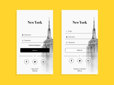 Daily UI challenge 001 - Sign in responsive sign in ux ui mobile app