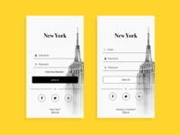 Daily UI challenge - Sign in