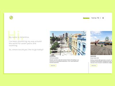 Landing Page web design landing page blog minimal ux ui