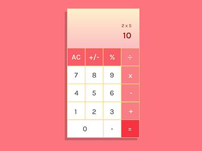 Daily UI Challenge 004 - Calculator daily ui app design calculator mobile ux ui
