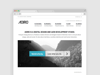 First Look at Aoiro Studio V5 - Coming soon! aoiro studio redesign site web