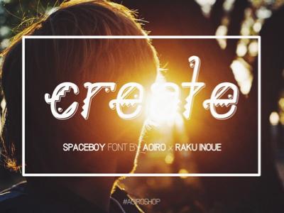 SpaceBoy - New Font | 2nd Sneak spaceboy font aoiro studio aoiro shop