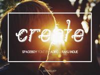 SpaceBoy - New Font | 2nd Sneak