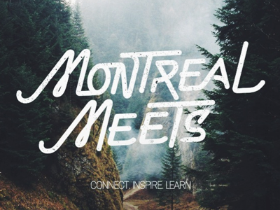 Celebrating its 4th Anniversary. design montreal montreal meets teaser typography