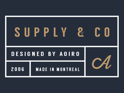 Supply & Co - In the Works supplyco aoiro aoiro studio aoiro shop