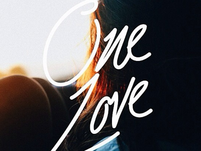 One Love. - Hand Lettering handlettering typography aoiro studio practice