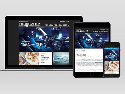Mercedes-Benz Canada Magazine Microsite ux design lead sketch web design mercedes-benz responsive spafax