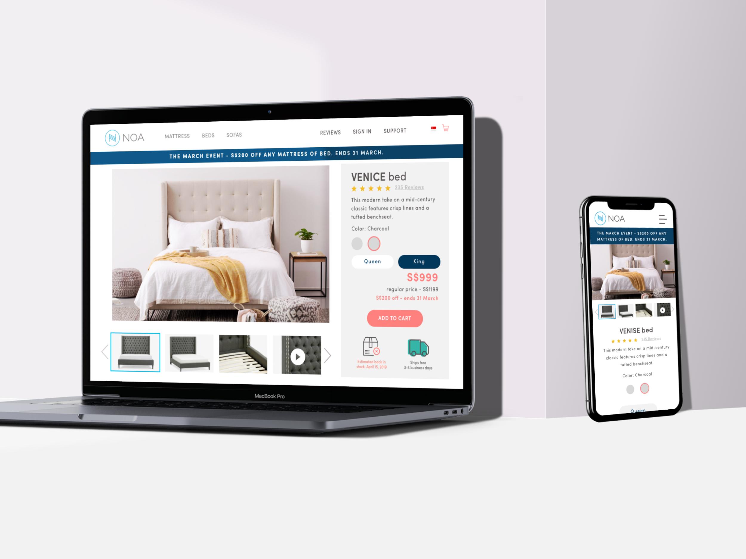 Noa Redesign e-Commerce Site
