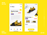 Sport shoes application interface-1