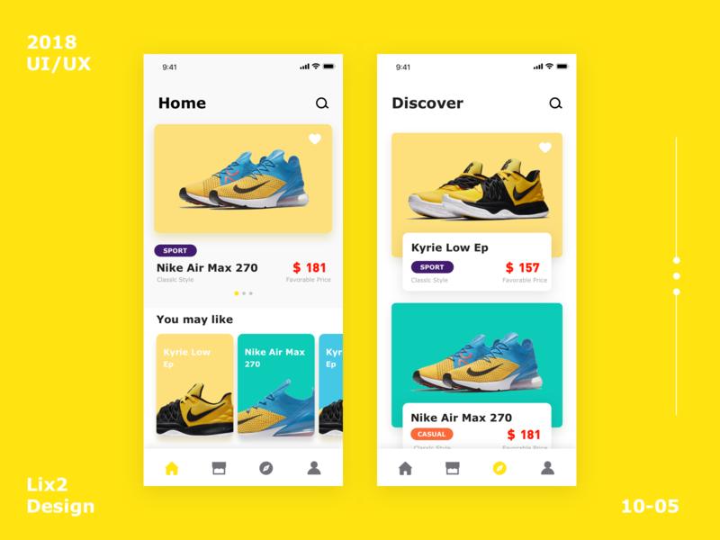 Sport shoes application interface-3 shoes design ux ui