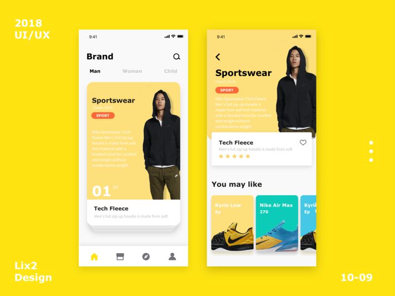 Sport shoes application interface-4 design ux ui