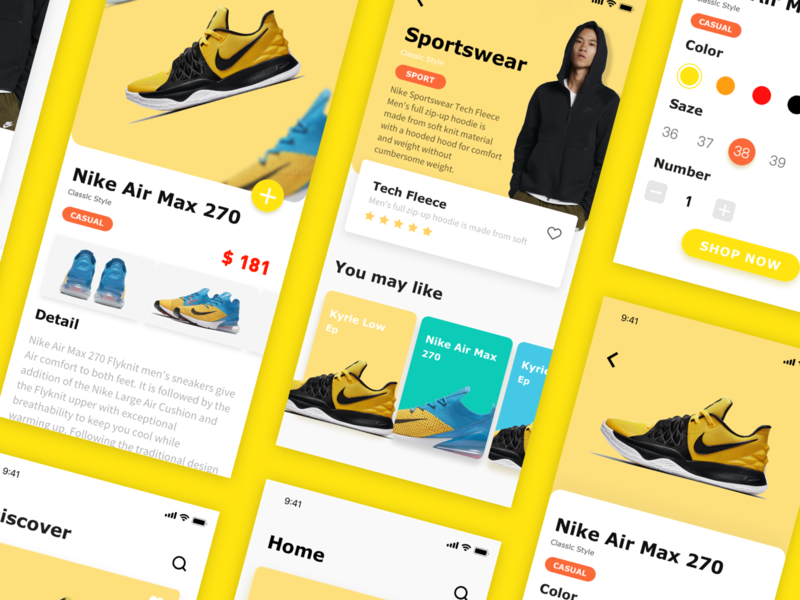 Sport shoes application interface-7 app shoes ux ui design