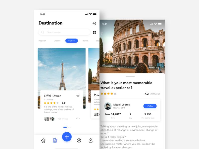Travel application interface travel app ui ux design
