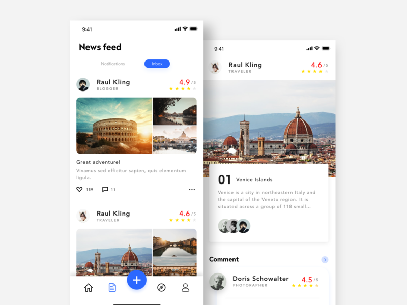 Travel application interface-3 travel app ux ui design