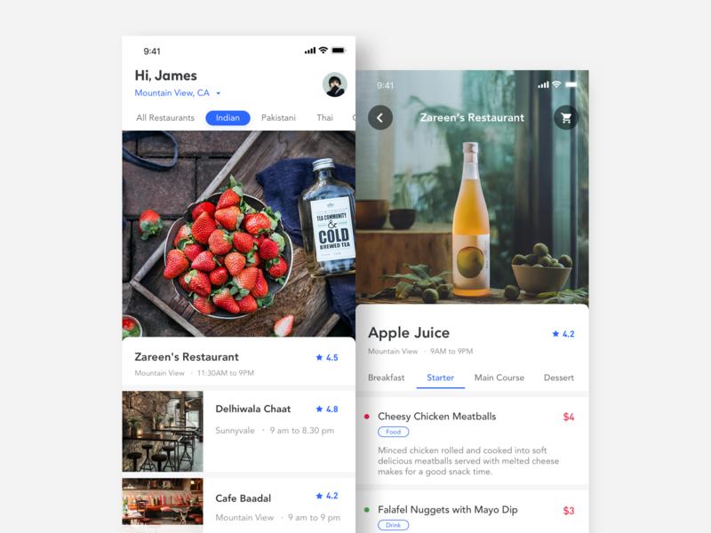 Food application interface-2.1 food app ui ux design