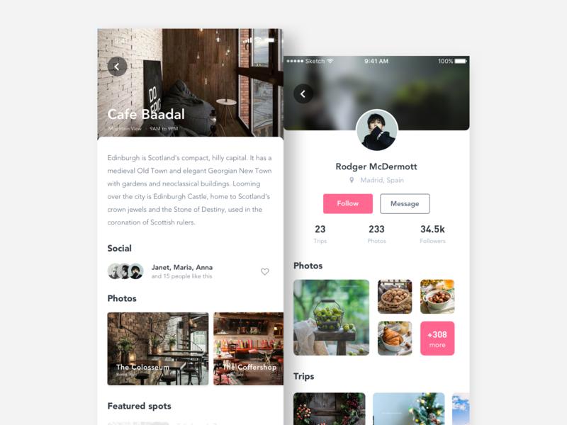 Food application interface-2.2 app ux ui design