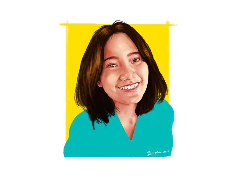 Portrait Painting design portait illustration