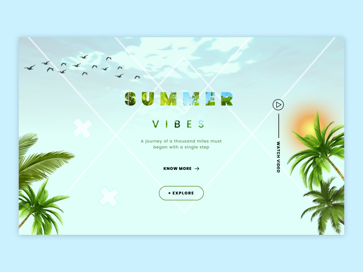 Summer Vibes UI flat lettering mohit nagar app design app illustration logo typography branding motivation ui ux design