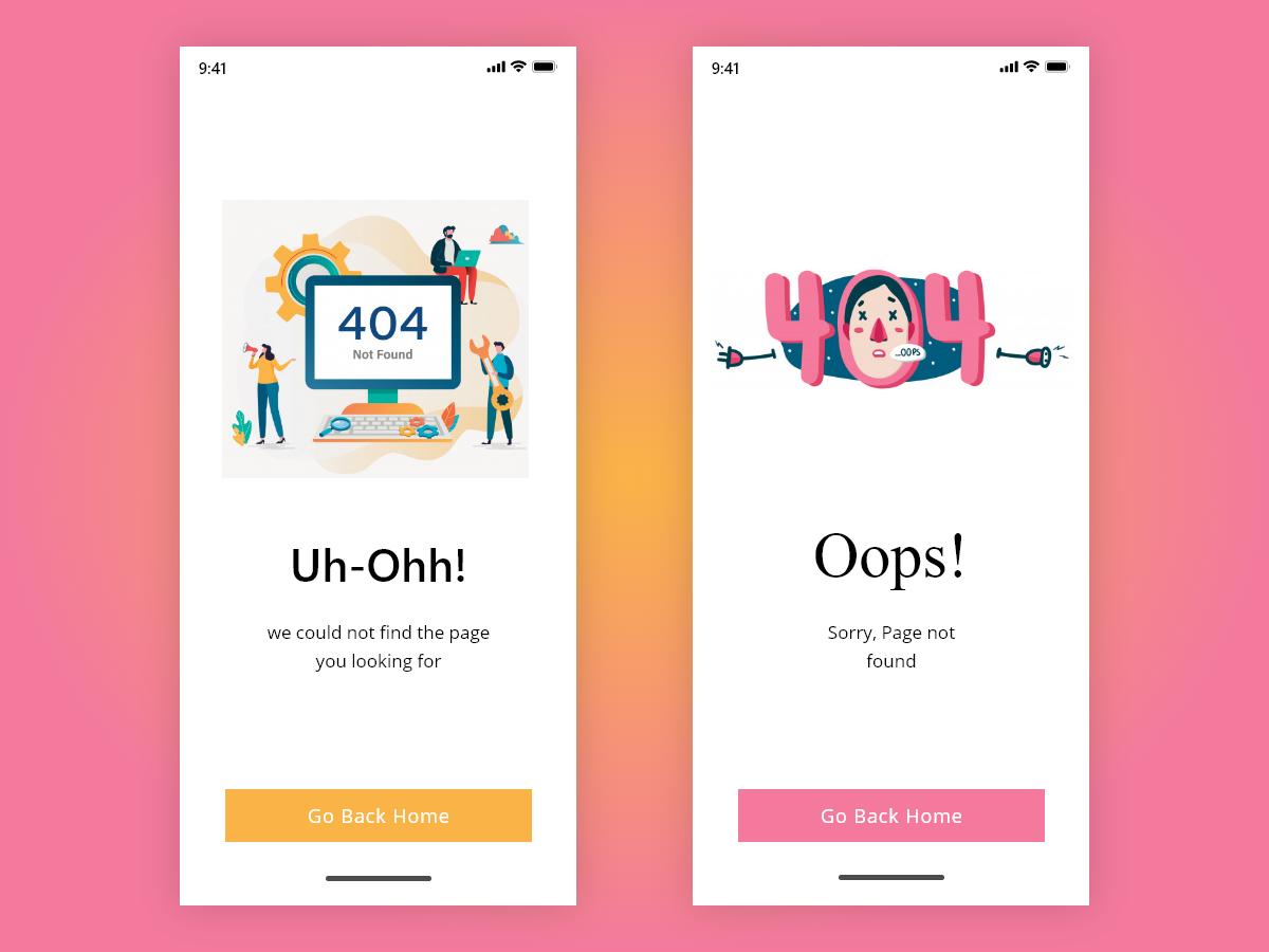 ERROR 404! minimal typography lettering icon animation flat vector illustration mohit nagar app ui ux web design concept motivation ux ui design