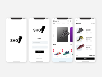SHOE E-commerce app UI Concept