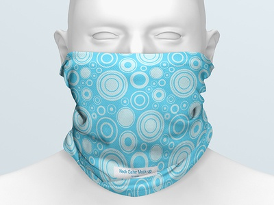 Neck Gaiter Mock-up v2 mannequin bicycle unisex fashion face mask hiking protection safety equipment polyster headwear skates outdoor background cover mockup scarf headband neck gaiter mask seamless