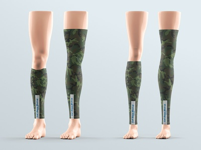 Calf Sleeve Mock-up apparel leg bicycle fashion compression hiking protection safety equipment polyster unisex skates outdoor background cover mockup fitness sleeves calf footwear seamless