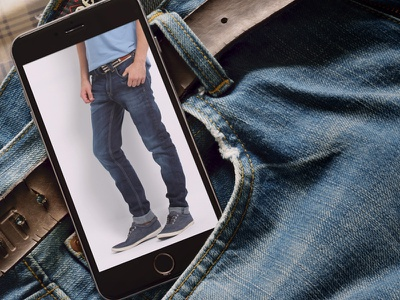 Phone 6 Plus Mock-up 2 futuristic jeans responsive ui photorealistic device iphone 6 plus black mockup mobile phone android phone smart phone