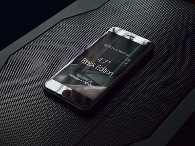 Phone 6 Mock-up v3 futuristic high tech responsive ui photorealistic device black iphone 6 mockup mobile phone android phone smart phone