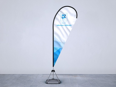Feather Flag Pole Mock-up banner pole flag spike angled straight convex feather smart object concave teardrop mock-up