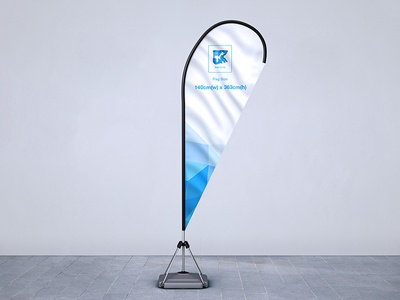 Feather Flag Pole Mock-up