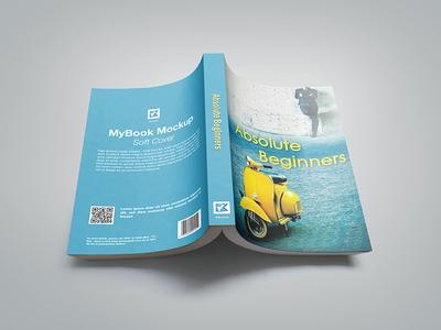 Paperback Book Mock-up v1 paperback bookstore soft cover novel portrait back cover textures photorealistic mockup hardback studio shot book
