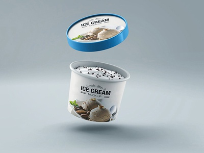 Ice cream Cup Mock-up v3