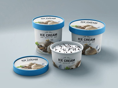 Ice Cream Cup Mock-up v4