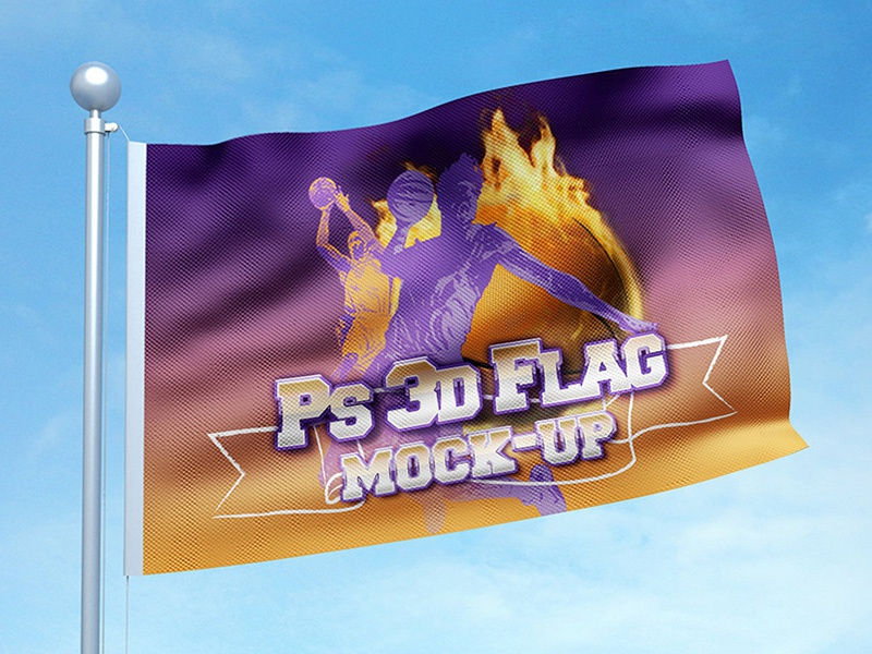 3D Flag Mock-up Bundle daylight brick wall field angled straight convex feather base stand event branding signage showcase smart object psd concave teardrop mock-up advertising ad